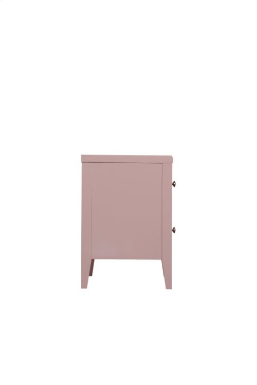 Emerald Home Home Decor 2 Drawer Nightstand-pink B371-04pnk