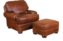 Edward Leather Chair, Edward Leather Ottoman