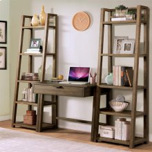 Perspectives - Wall Desk - Brushed Acacia Finish