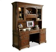 Bristol Court Credenza Hutch Cognac Cherry finish Product Image