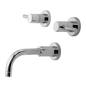 Satin-Nickel Wall Mount Tub Faucet