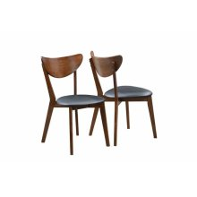 Malone Mid-century Modern Dark Walnut Dining Chair
