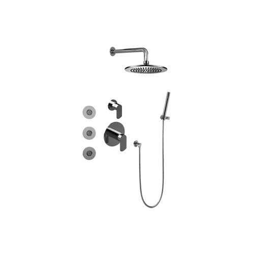 Full Thermostatic Shower System w/ Diverter Valve