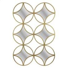Gold 6 Diamond/circle Mirror,wb