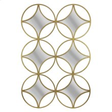 Gold 6 Diamond/circle Mirror,wb