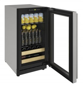 "2000 Series 18"" Beverage Center With Stainless Frame Finish and Field Reversible Door Swing (115 Volts / 60 Hz)"