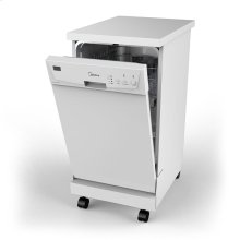 Portable 18 inch Dishwasher - White
