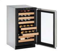 "2000 Series 18"" Wine Captain® Model With Stainless Frame Finish and Field Reversible Door Swing"