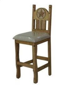 "30"" Barstool W/Cushion Seat and Star"