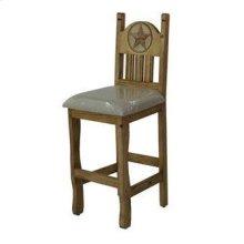 "30"" Barstool W/Cushion Seat and Star"