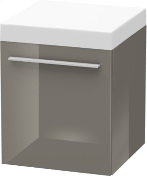 Mobile Storage Unit, Flannel Gray High Gloss Lacquer