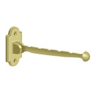 """Valet Hook, 7"""" Projection - Polished Brass"""