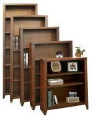 Bookcase w/ 1 fixed, 4 adj shelves Product Image
