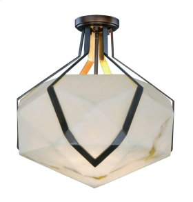 Boulder LED 1-Light Semi Flush