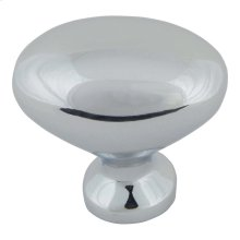 Robin Egg Knob 1 1/4 Inch - Polished Chrome