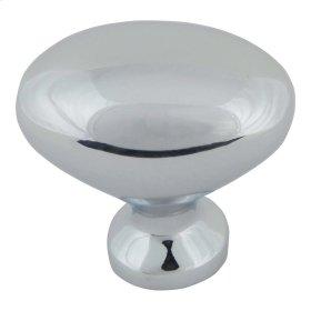 Robin Egg Knob 1 1/4 Inch - Polished Chrome