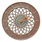 """Spiral 14"""" Indoor Outdoor Wall Clock - Copper Vedigris Product Image"""