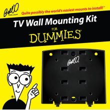 Low profile mount for most small to medium size TVs including 8190DB Adapter Plates, For Dummies installation guide, and For Dummies step-by-step DVD video