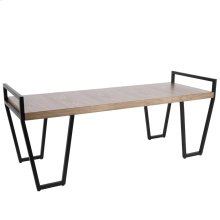 Julien Bench - Black Metal, Walnut Wood