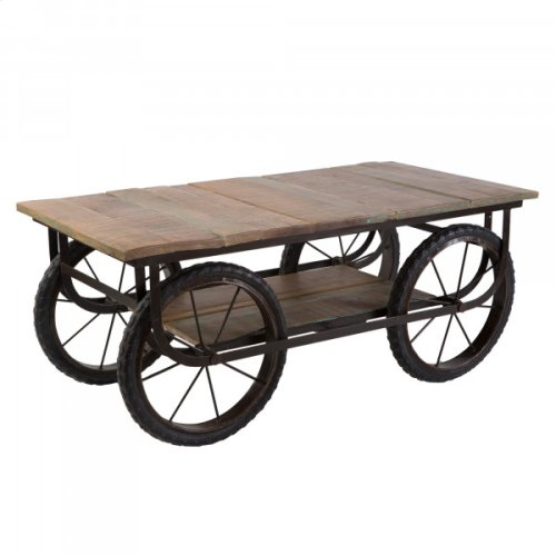 Mango Wood Cart Table