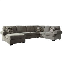 Signature Design by Ashley Jinllingsly 3-Piece Right Side Facing Sofa Sectional in Gray Corduroy [FSD-1949SEC-3RAFS-GRY-GG]