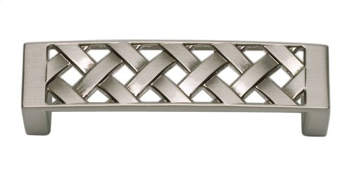 Lattice Pull 3 Inch (c-c) - Brushed Nickel
