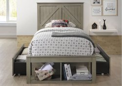 3016 Ashland Twin Bed with Dresser & Mirror