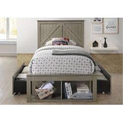 3016 Ashland Twin Bed with Dresser & Mirror