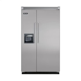 """Metallic Silver 48"""" Side-by-Side Refrigerator/Freezer with Dispenser - VISB (Integrated Installation)"""
