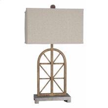 Wooden Window Table Lamp