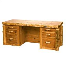 Executive Desk Natural Cedar, Standard Finish
