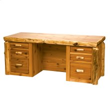 Executive Desk Natural Cedar, Standard Finish