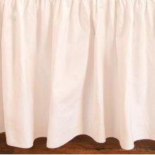 Bebe Pique Crib Skirt White