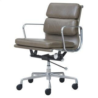 Chandel PU Low Back Office Chair, Vintage Smoke