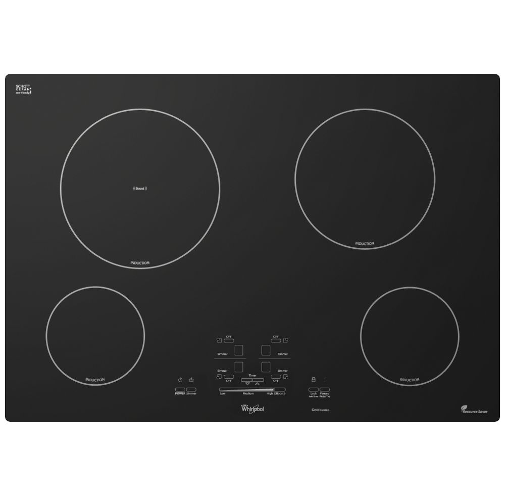 Gold(R) 30-inch Electric Induction Cooktop  BLACK