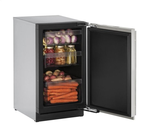 """18"""" Solid Door Refrigerator Stainless Solid Right-Hand Hinge"""