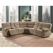 Conan 3PC Reclining Sectional - Latte
