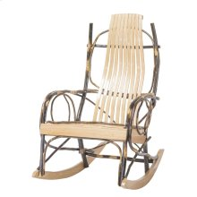 Amish 9 Slat Rocker-oak/hickory W/twig Arm