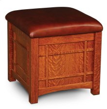 Prairie Mission Storage Cube, Fabric Cushion Seat