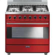 "Free-Standing Gas Range, 36"", Red"