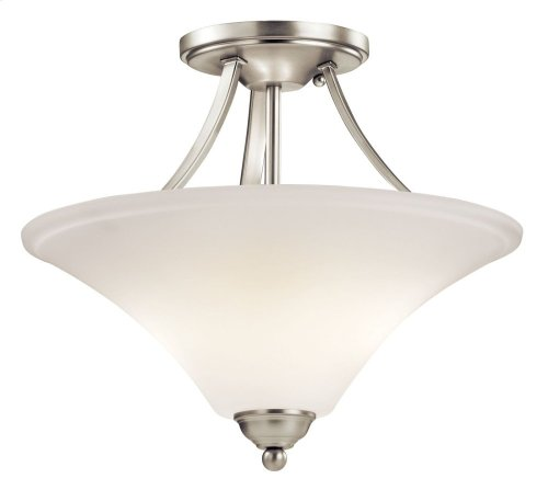 Keiran 2 Light Semi Flush Brushed Nickel