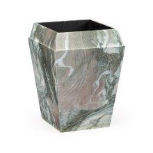 Small Square Faux Black & Grey Marble Planter