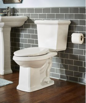 "White Logan Square 1.28 Gpf 12"" Rough-in Two-piece Elongated Ergoheight Toilet"