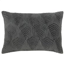 Sloan Velvet Pillow, GRAY, 14X20