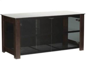 Chocolate Widescreen Lowboy Smoked tempered-glass doors - fits AV components and TVs up to 55""