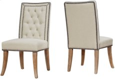 Garrett Beige Linen Dining Chair (Set of 2) Product Image