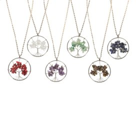 24 pc. ppk. Tree of Life Necklaces.