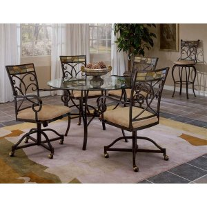Hillsdale FurniturePompei 5pc Caster Dining Set