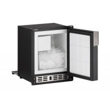 "15"" Marine Crescent Ice Maker Black Solid Field Reversible"