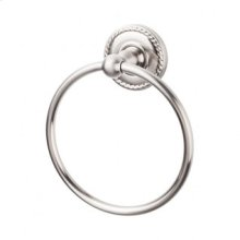 Edwardian Bath Ring Rope Backplate - Brushed Satin Nickel